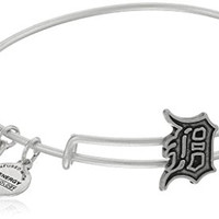 Alex and Ani Detroit Tigers Slider Charm Rafaelian Silver Finish Bangle Bracelet