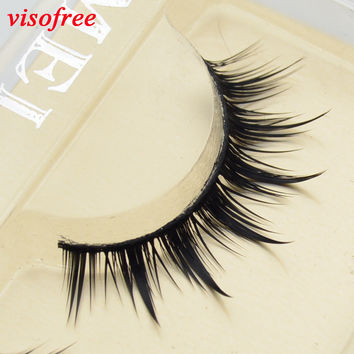 1pair Supernatural Eyelashes Handmade false eyelash 3D strip mink lashes thick fake faux eyelashes Makeup beauty 8C17