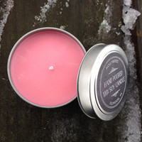 Soy candle Love Spell citrus hydrangea cherry apple container pink Valentine's Day gift for her hand made bridesmaids gift party favor