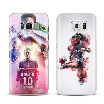 Neymar JR PSG Coque Phone Case Shell Cover For Samsung Galaxy S4 S5 S6 S7 Edge S8 S9 Plus Note 8 2 3 4 5 A5 A7 J5 2016 J7 2017