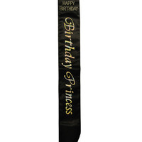 Birthday Princess Non Flashing Sash - Black