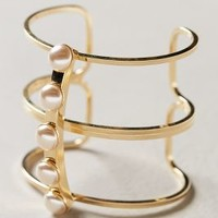 Pont Pearl Cuff by Anthropologie Gold One Size Jewelry