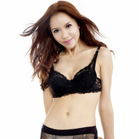 2016 Hot Sexy Fashion New Underwear Full Cup Coverage Minimizer non padded Lace Sheer Bra Size 34 36 38 40