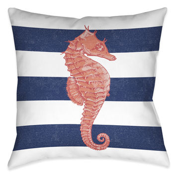 Seahorse Stripe Indoor Decorative Pillow