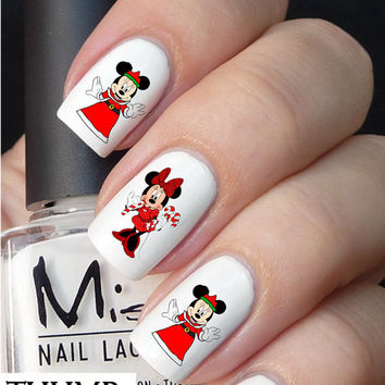 Disney Minnie Christmas nail decal