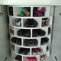 Home decor / Lazy Susan for shoes!