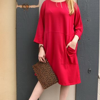 Pocket Shift Dress - Wildberry by Cut Loose