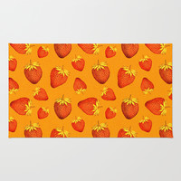 Strawberries All Over Rug by Good Sense