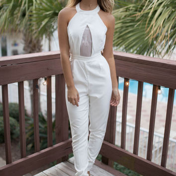 Trinity Bay White Jumpsuit