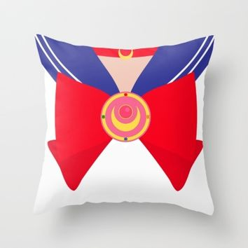 Sailor Moon Bow Throw Pillow by Jenna Mhairi
