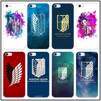 Cool Attack on Titan Soft TPU Silicone Mobile Phone Cases for iphone 8 7 Plus X 6 6S Plus 5 5S 5C SE 4 4S Case Anime  Survey Corps AT_90_11