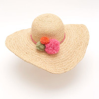 Shop Straw Pom Hat at vineyard vines