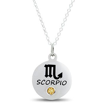 Zodiac Scorpio Birthstone Necklace