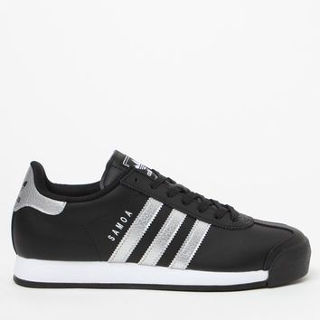 adidas Women's Black and Silver Samoa Sneakers at PacSun.com