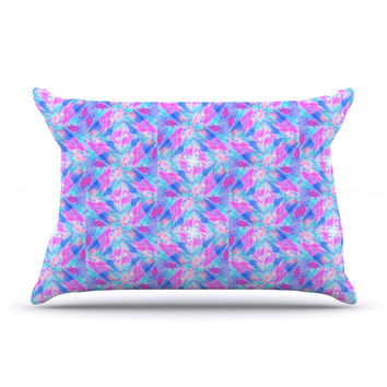"Ebi Emporium ""Seeing Stars"" Blue Pink Pillow Case"
