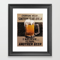 Booze Advert 1 Framed Art Print by Linsey Williams Art
