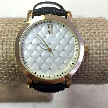Black Watch the Quilted Rhinestone Face
