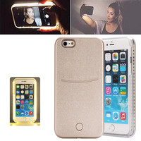 2016 New Fashion LED Lights Illuminated Selfie PC Hard Case For iPhone 6 6S for iPhone 6S Plus LED Light Up Case for iPhone SE