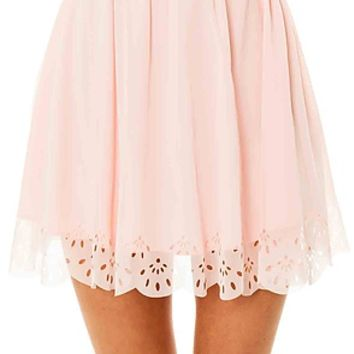 *MKL Collective The Tea for Two Skirt in Powder Rose : Karmaloop.com - Global Concrete Culture