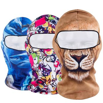 Animal Breathable Balaclava Full Face Mask Bicycle Combat Helmet Linner Hats Cap Halloween Snowboard Party