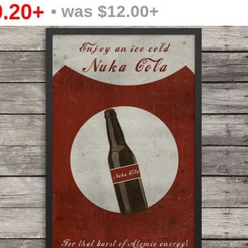Nuka Cola Poster | Fallout Poster | Minimalist print | Videogame art