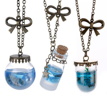 Shiny Gift Stylish New Arrival Jewelry Hot Sale Natural Sea Pendant Necklace [8026349319]