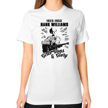Hank williams Unisex T-Shirt (on woman)