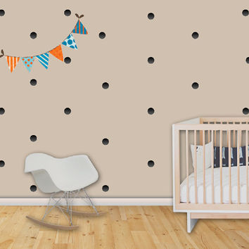 Nursery Wall Decal Confetti Wall Decal Dots Stickers Black Circle Stickers Kids Wall Decal Boy Room Decor. Confetti Children Wall Decal