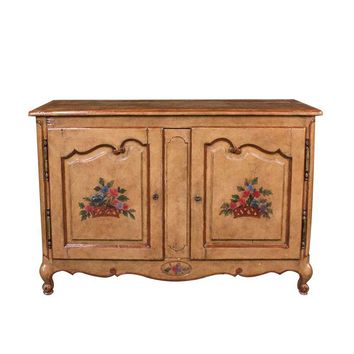 Pre-owned French Provincial Hand Painted Buffet