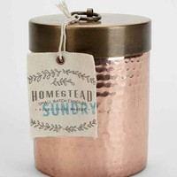 Found Goods Market Homestead Hammered Copper Candle