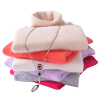Women Sweater 2016 New 100% cashmere sweater women Pullover Regulate thick Warm Ladies Sweater High Quality 20 Colors Solid