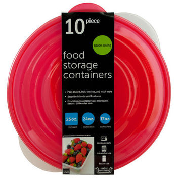 Round Nesting Food Storage Containers ( Case of 4 )