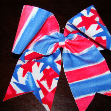 Independence Day Cheer Bow by isparklethat on Etsy