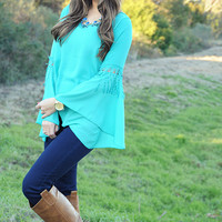 Told My Heart Top: Turquoise