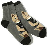 Cat Print Cold-proof Socks