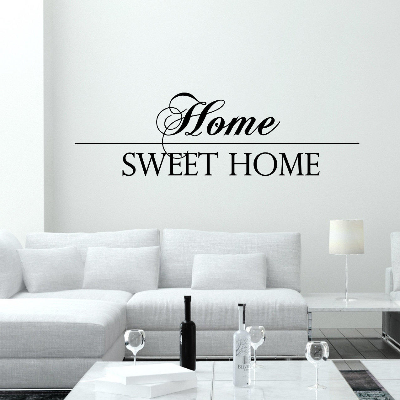 wall decal quotes home sweet home art from decalsfromdavid on