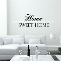 Wall Decal Quotes Home Sweet Home Art Mural Family Design Vinyl Decals Living Room Bedroom Hotel Hostel Window Stickers Home Decor 3757