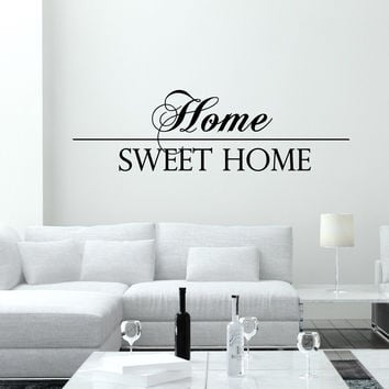 Wall Decal Quotes Home Sweet Home Art Mural Family Design Vinyl Decals  Living Room Bed