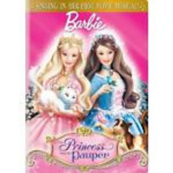 BARBIE AS THE PRINCESS AND THE PAUPER - DVD Only -ENGLISH, SPANISH & FRENCH LANG