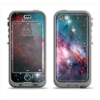 The Colorful Neon Space Nebula Apple iPhone 5c LifeProof Nuud Case Skin Set