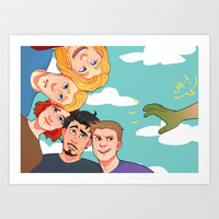 Family Photo Art Print by Kelsey