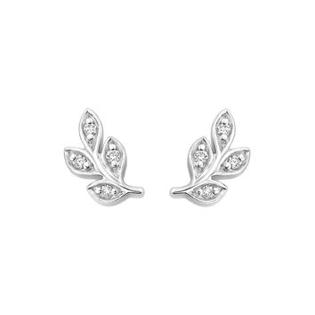 Silver Juniper Diamond Earrings