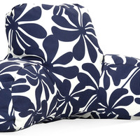 Plant Outdoor Boyfriend Pillow, Navy, Decorative Pillows