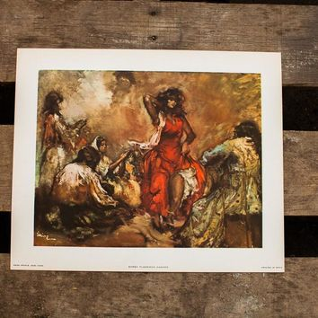 Gypsy Flamenco Dancer Lithograph