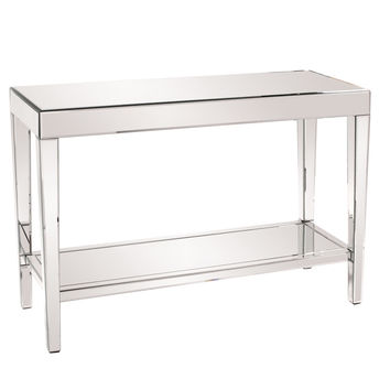 Orion Mirrored Console Table with Shelf