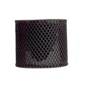 "Black & Black Fishnet Leather Wristband Cuff Bracelet 2-1/2"" Wide"