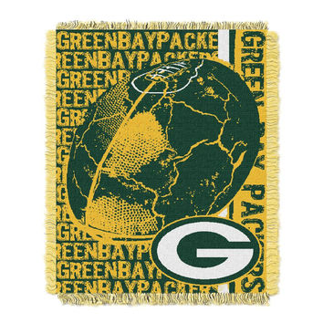 Green Bay Packers NFL Triple Woven Jacquard Throw (Double Play) (48x60)