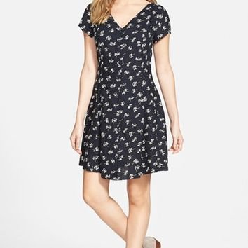 Junior Women's Zoe and Rose Button Front Skater Dress ,