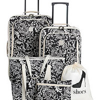 New Directions® 5-Piece Luggage Set - Ivory Vine - Belk.com