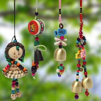 Multicolor Mini Wooden Wind Chime Bell ~